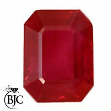 Emerald Shaped Transparent Loose Natural Rubies