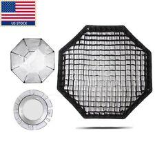 "Godox 120cm 47"" Octagon Honeycomb Grid Softbox Bowen Mount For Studio Photo"
