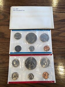 1976 D US MINT UNCIRCULATED COIN SET- ORIGINAL ENVELOPE