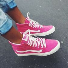 VANS Sk8 Hi Slim Zip (Scotchgard) Pink Suede Skate Shoes WOMEN'S SIZE 5
