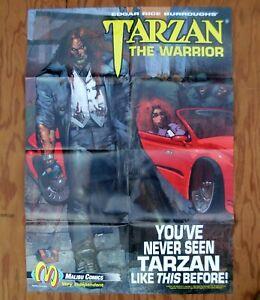 TARZAN THE WARRIOR Malibu Comics Promotional Poster 1992 Promo