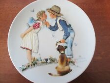 """Norman Rockwell Collector Plate- """"Spring- Beguiling Buttercup"""" from """"Four Season"""