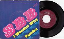 """SBB-I wonder why/Tumba, 7"""" VINILE Amiga"""
