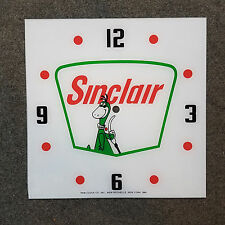 "NEW* 15"" SINCLAIR DINO GASOLINE GAS OIL GLASSreplacement clock FACE FOR PAM"