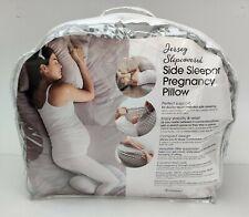 Boppy Side Sleeper Maternity Pregnancy Pillow, Diamond Circles Gray and White