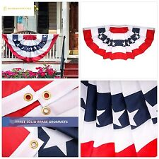 Jetlifee American Us Bunting Flags - 4X8 Ft Usa Pleated Fan Flag by Us Veterans