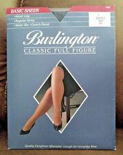Burlington Queen 3 To 260 Lbs Pantyhose Navy Classic Full Figure V98 Blue Nylons