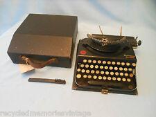 vintage typewriter Remington 1 pop up no right shift key NA10585 works brush