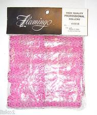 """Pink Brush Hair Rollers 7/8"""" 12pcs. Morris Flamingo #4150b  sale"""