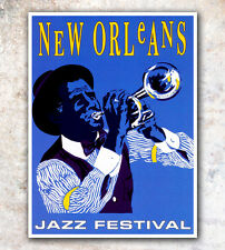"""Vintage Travel Poster New Orleans 8x10"""" A493"""