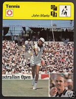 JOHN MARKS Australia Tennis Player Photo 1979 SPORTSCASTER CARD 103-23