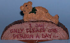 "Boyds Bears desk sign,""Rudy..Today is Not Your Day"" #4145, office bear 2004"