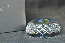 WATERFORD Clear Crystal Dome Paperweight Blank Panel  NIB