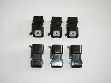 Set 6 EV1 Jetronic To EV6 USCAR Fuel Injector Adapter Connector Mustang LT1 tpi
