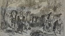 NY Daily Graphic. The War in the East. Herzegovinia Refugees. 1876.