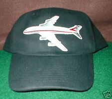 BOEING 747 Airplane Aircraft Aviation Hat With Emblem Low Profile Style Black