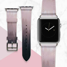 Pink Smart Watch Bracelet Wood Leather iWatch Band Nature Apple Watch Strap