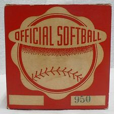 Vintage Globe Official 16 Inch Softball In Original Box