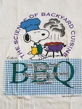 Vtg 1958 SNOOPY T Shirt Peanuts Schulz Backyard Cuisine BBQ Unique Sz Large L
