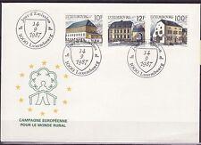 Luxemburg Nr.  1180-82  FDC Ländliche Architektur offizieller FDC
