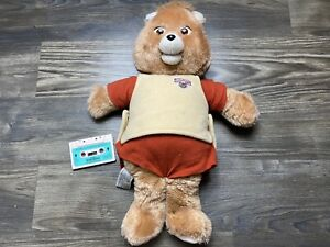 Teddy Ruxpin Doll 1985 Vintage Worlds Of Wonder - Works - READ DESCRIPTION