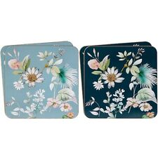 Set of 4 Daisy Meadows Colourful Floral Design Tea Coffee Cup Table Coasters
