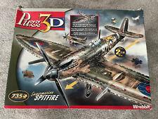 Puzz 3D Supermarine Spitfire 735 Piece Puzzle Complete Hasbro Canada VERY RARE