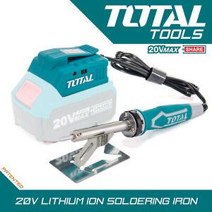 Cordless Soldering Iron 20v Lightweight Soft Grip Quick Heating Battery Not Inc