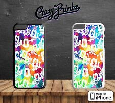 Mickey Mouse Colourful Ears Hard Case Cover for all iPhone Models G13