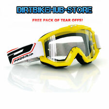 PROGRIP 3201 2017 RACELINE MOTOCROSS MX GOGGLES YELLOW WITH TEAR OFFS