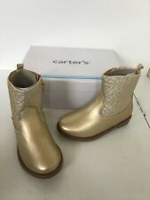 Carters girls gold glitter boots size 8 new