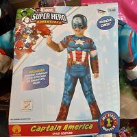 Toddler Marvel Captain America Halloween Costume - Multi - Size: 3T-4T