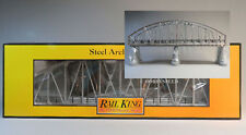 MTH REALTRAX 1 LIGHTED SILVER STEEL ARCH TRACK BRIDGE O GAUGE train 40-1117 NEW