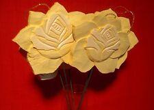 14 Stück stabile Holzblumen,gelb,Durchmesser 10cm,Stärke 1cm,z. Hängen u.Stecken