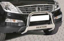 SSANGYONG  REXTON W 2013 BULL BAR MIRROR INOX 60 LUCIDO C/SCRITTA