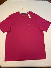 Tommy Bahama T Shirt Relax Pocket Tee Bright Pink mens LT NWT Casual Pink