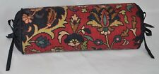 Bolster Neck Roll Pillow made w Ralph Lauren Poet Society Blue Tapestry Fabric