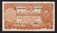 Australia R-14. (1949) 10 Shilling - Coombs/Watt.. King George VI..  VF