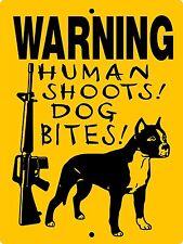 PITBULL DOG SIGN,PIT BULL DOG SIGN,GUARD DOG SIGN, 9x12 ALUMINUM,H3388HSDBPB1