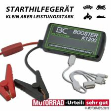 Booster Akku Ladegerät BC K1200 Handy Navi USB Starthilfe für Motorrad und KFZ