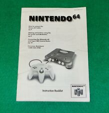 Nintendo 64 Console Instruction Booklet ONLY! N64 Manual Vintage Insert