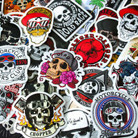 Skull Stickers Skateboard Vinyl Decals Laptop Motorcycle Luggage Sticker 50 Pcs