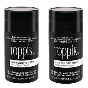 Toppik Hair Building Fibers White 12 g / 0.42 oz ( Pack of 2 ) Hair Care