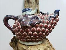 Chinese Porcelain Jun Kiln Red And Sky Cyan Glaze Teapot