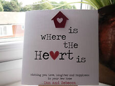 Handmade Personalised New Home Card Housewarming Moving House