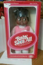 """IDEAL 1981 BABY  SEES ALL 12"""" DOLL MOVES EYES & TURNS HEAD NRFB"""