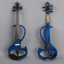 Yinfente Violin 5 String 4/4 Electric Violin Silent Flame veneer Powerful Sound