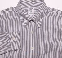 BROOKS BROTHERS Long Sleeve NON IRON Dress Shirt Regent Blue Red Striped 16 34