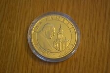 BU 2005 POLAND GOLD COLOR POPE JOHN PAUL 2ND 10 ZLOTY SILVER COIN!  BEAUTIFUL!!