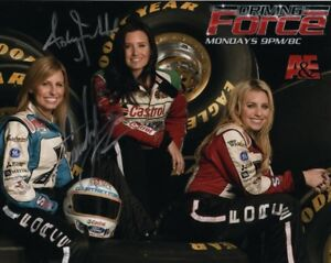 COURTNEY & ASHLEY FORCE signed autographed NHRA w/ BRITTANY photo